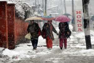 Snowfall at Kasauli