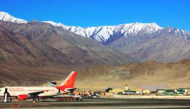 Chandigarh to Leh flight