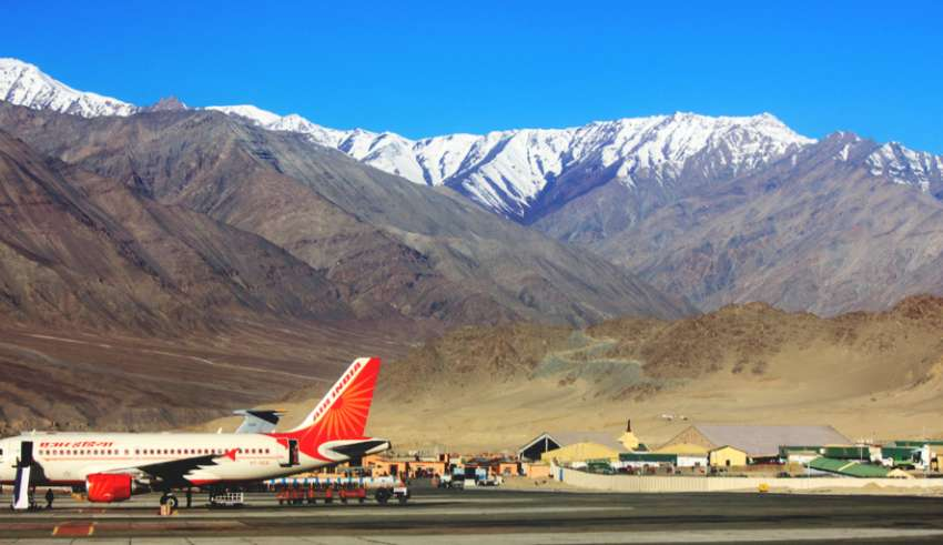 Chandigarh to Leh flight