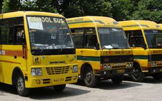 school bus in chandigarh