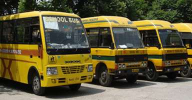 school bus in chandigarh