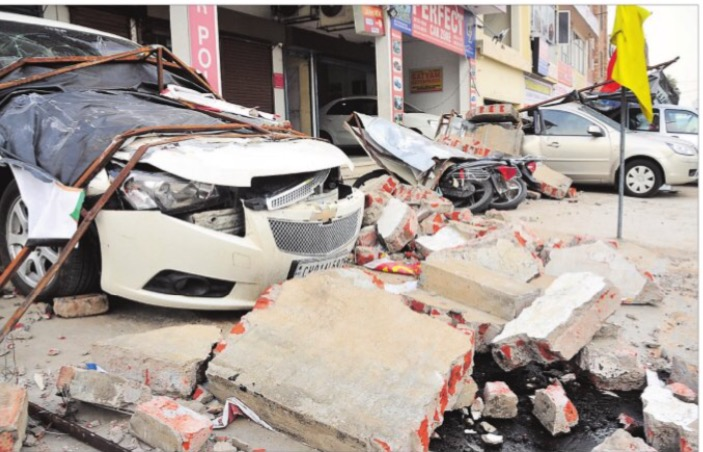 High-Velocity Storm in Chandigarh