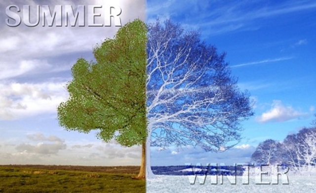 weather change from winter to summer