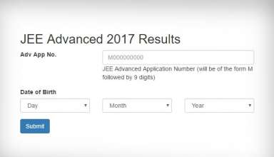 JEE Advanced 2017 Result Out Today | Result Link And Details