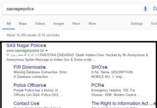 Hackers From Pakistan Hacked SAS Nagar Police Official Website